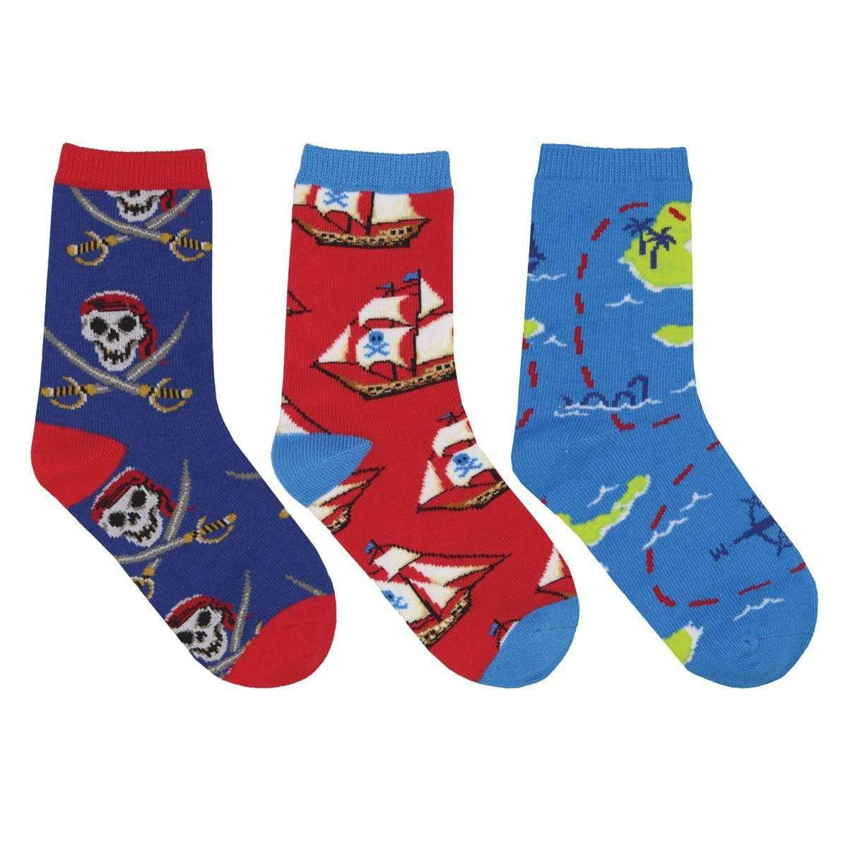 A Pirate's Life Crew Sock 3 Pack