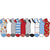 Fast Food Novelty No Show Socks 10 pack Multi