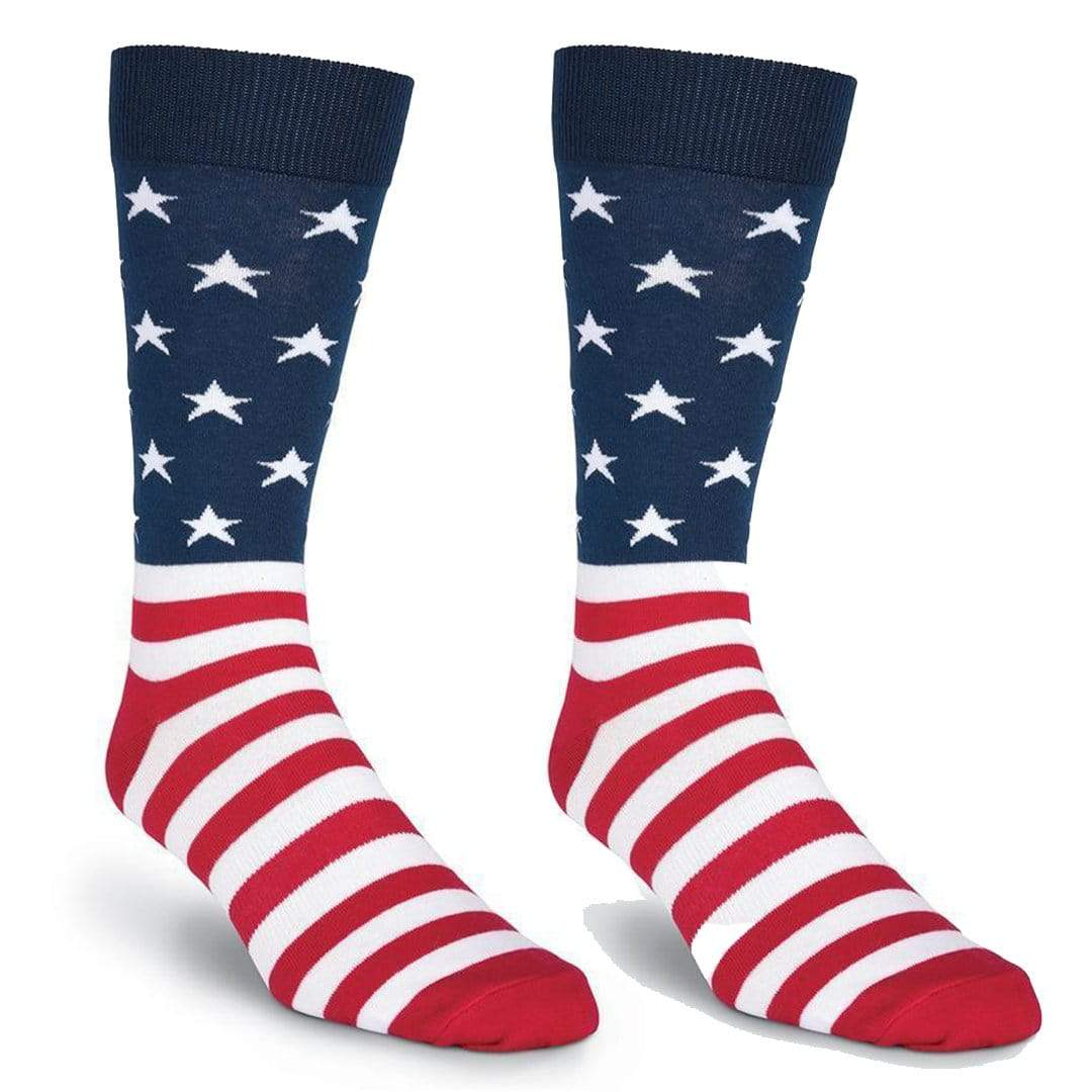 American Flag Sock Men's Crew Sock Regular / Navy