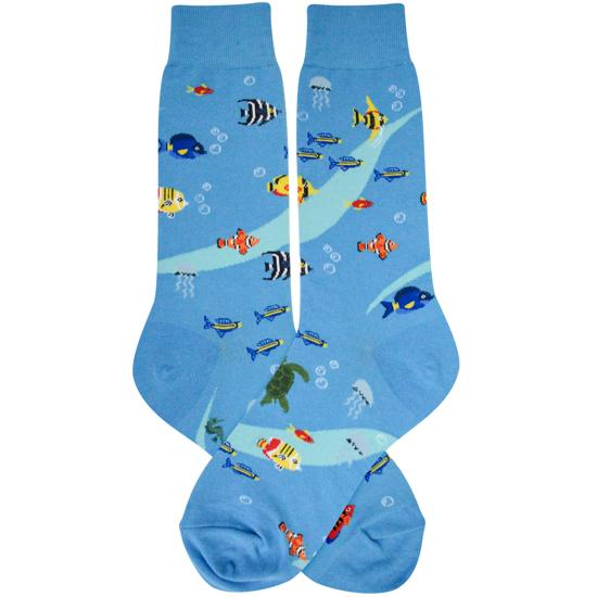 Aquarium Socks Men's Crew Sock