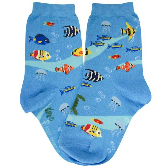 Aquarium Socks Youth Crew Sock