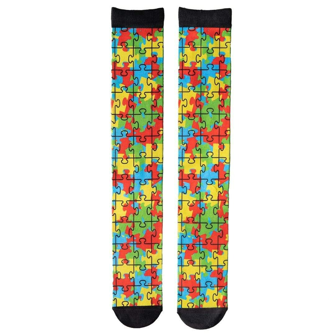Autism Awareness Socks Unisex Knee High Sock multi