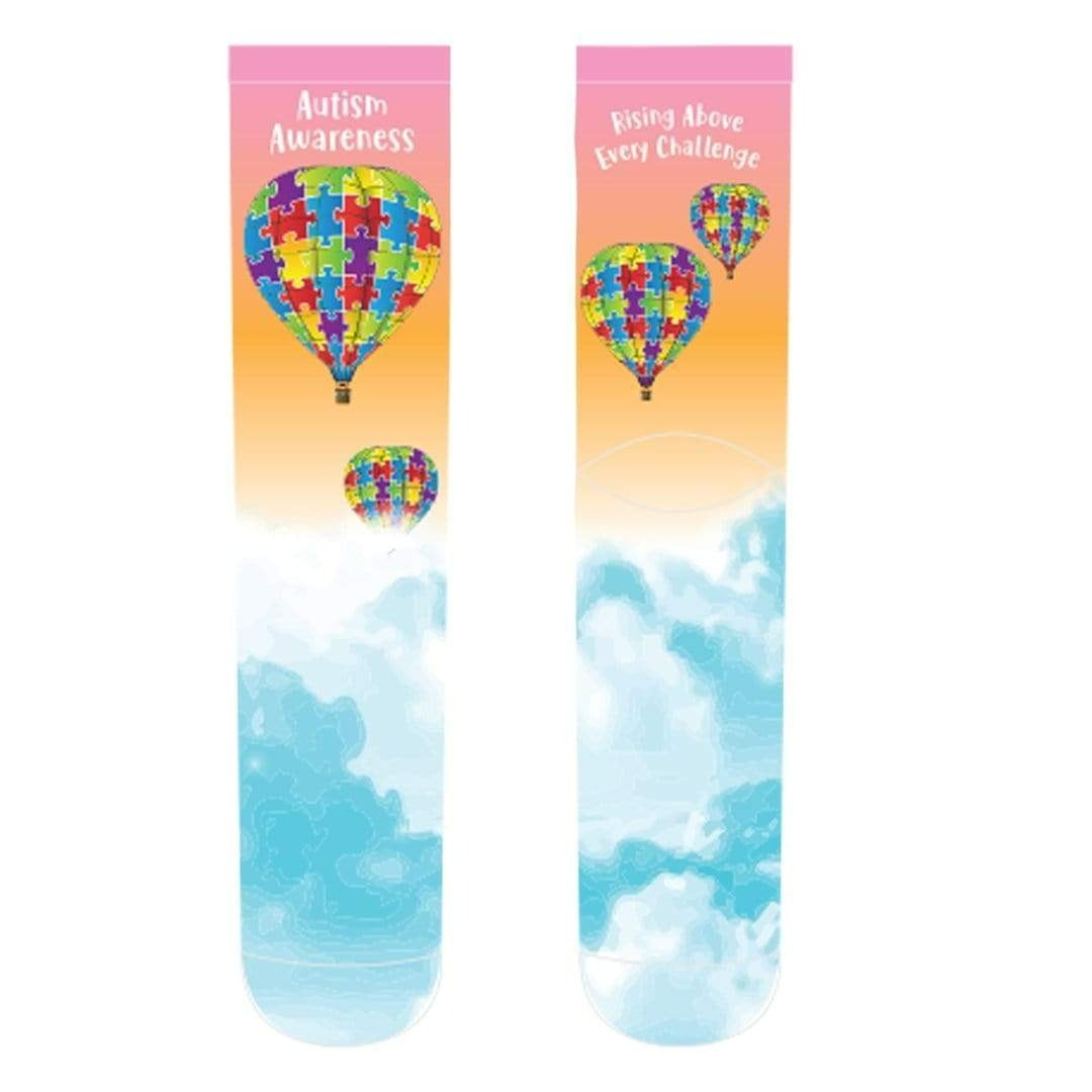 Autism Awareness Hot Air Balloon Crew Socks