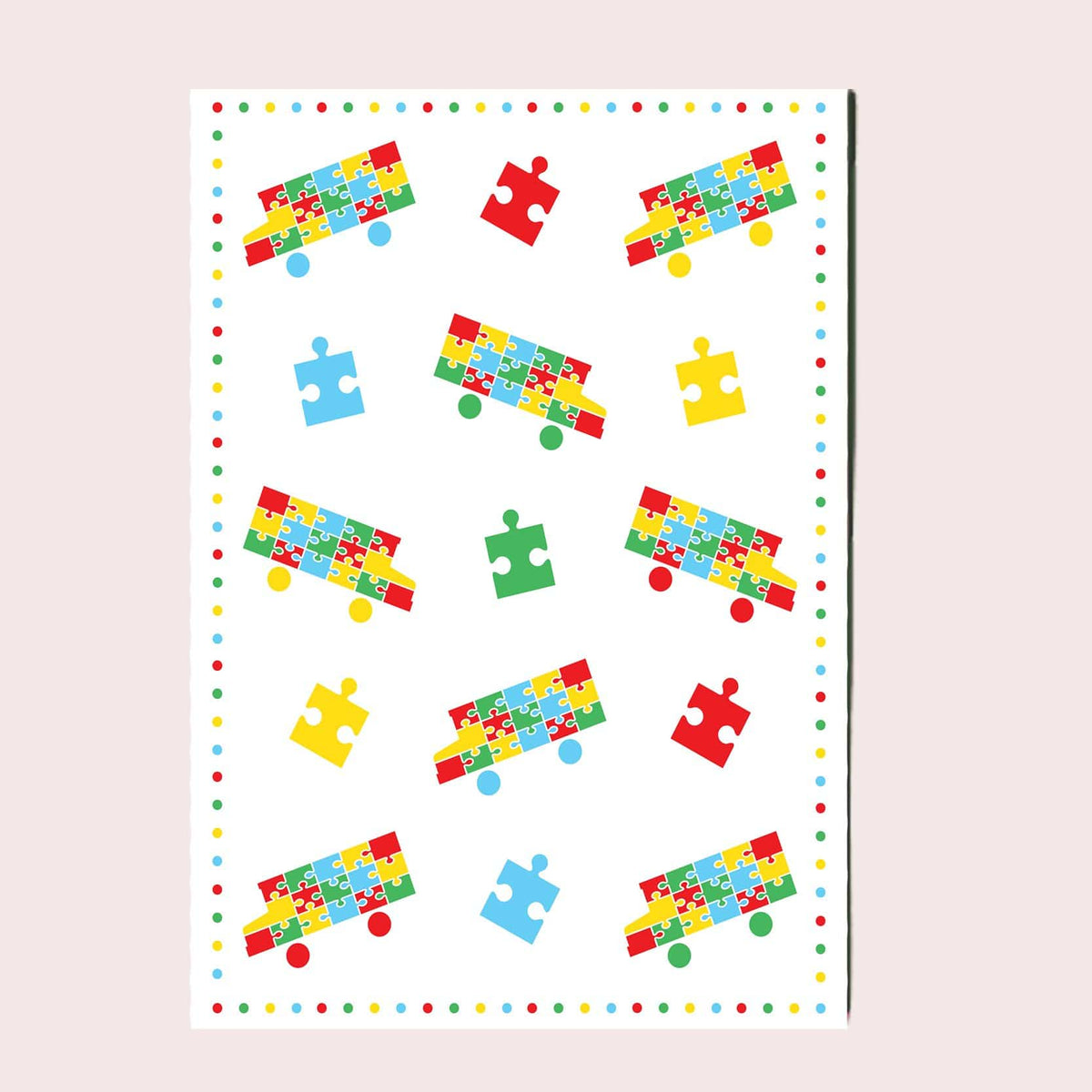 Celebrate Autism Greeting Card Single Card