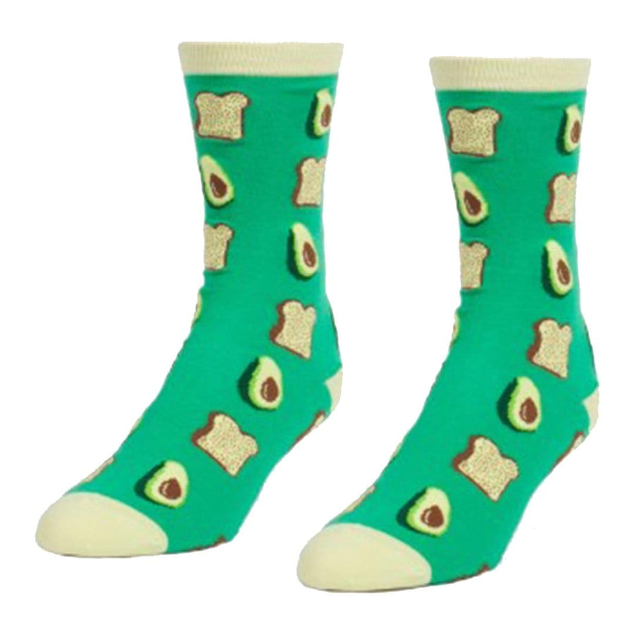 Avocados & Toast – Crew Socks for Women