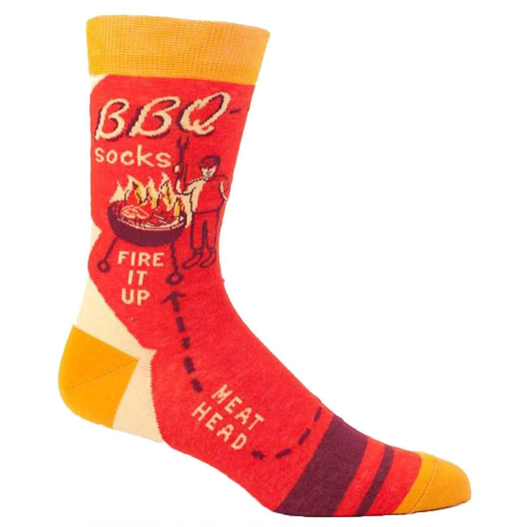 BBQ Socks Men's Crew Sock red