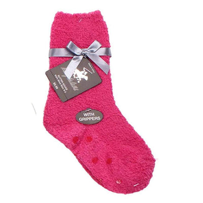 Solid Kids Fuzzy Socks Pink / Kids