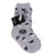 Dot Print Fuzzy Kids Socks Kids / Grey
