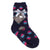 Dot Print Fuzzy Kids Socks Kids / Navy