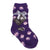 Dot Print Fuzzy Kids Socks Kids / Purple