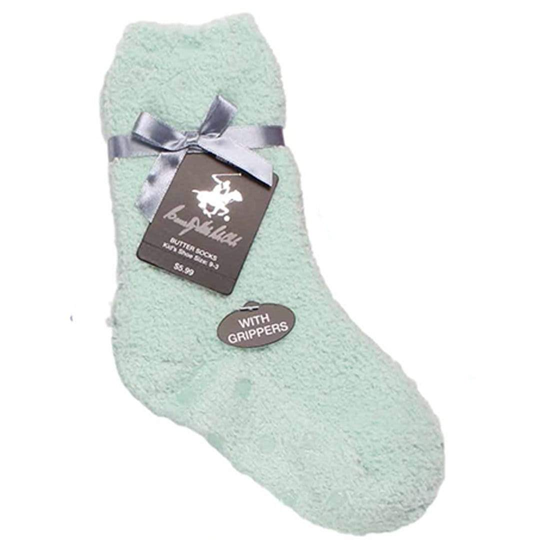 Solid Kids Fuzzy Socks Mint Green / Kids