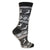 Reindeer Snowflake Women's Holiday Sock Black