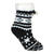 Children's Sherpa Christmas Slipper Socks Black