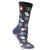 Christmas Penguins Women's Holiday Sock Grey
