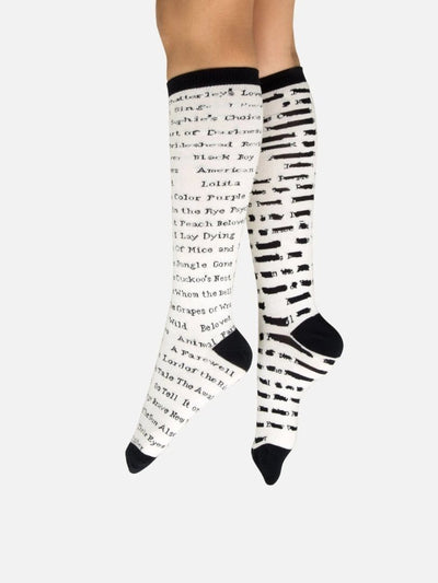 Banned Book Socks Unisex Knee High Sock