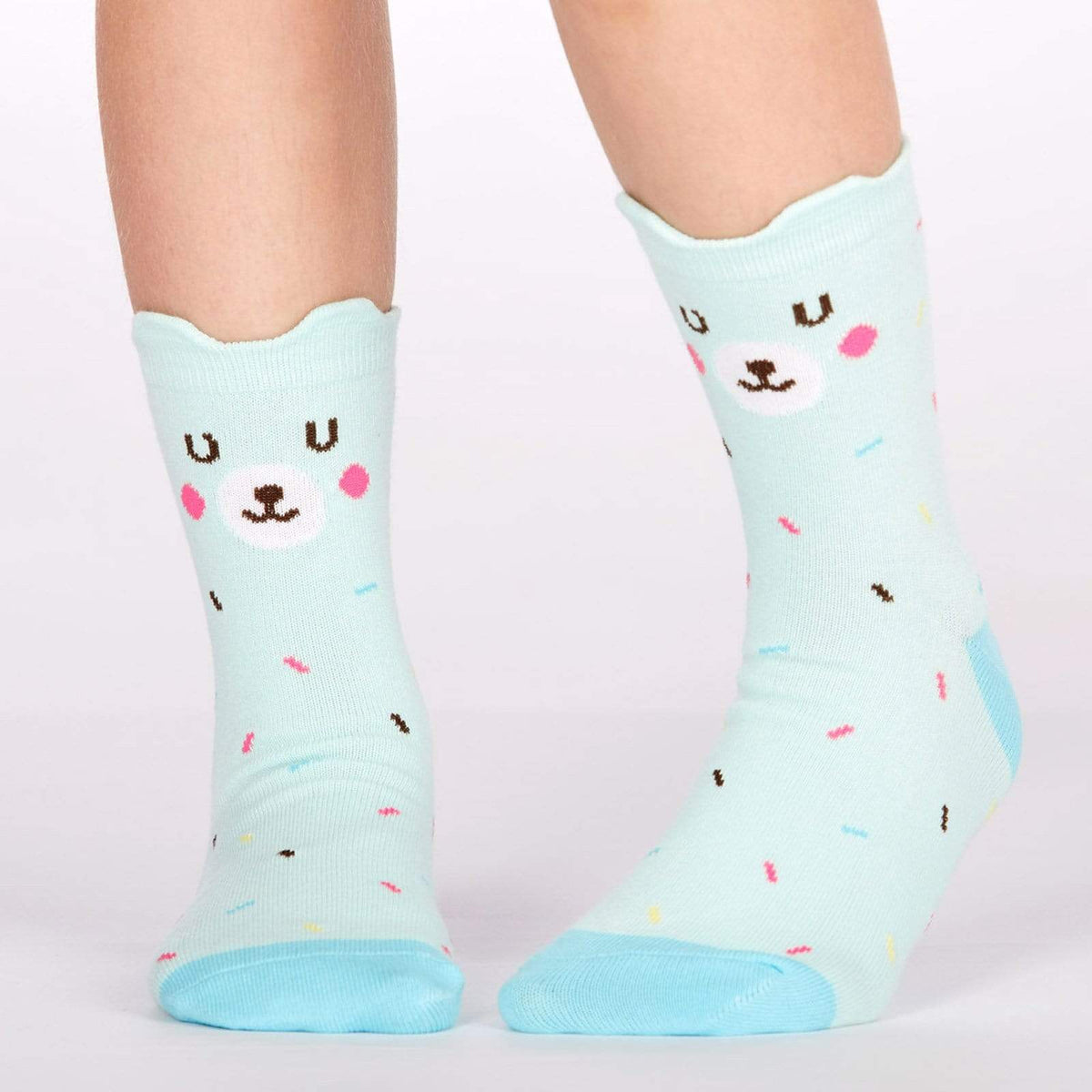 Bearly Sprinkled Junior Crew Sock Blue