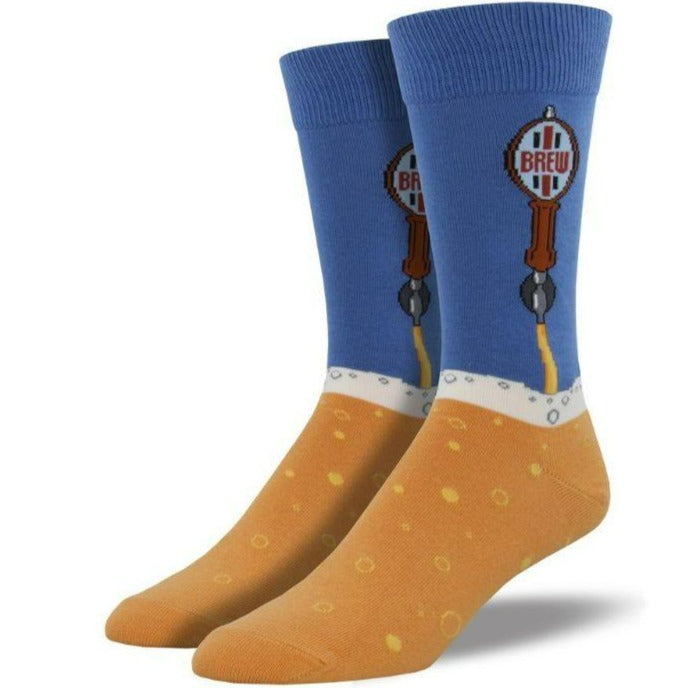 beer-tap-socks-crew-socks-for-men