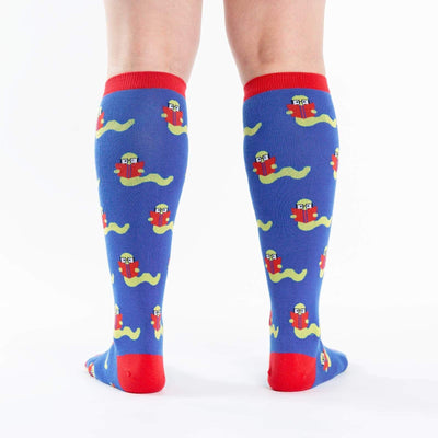 Bookworm Socks Women's Knee High Sock blue