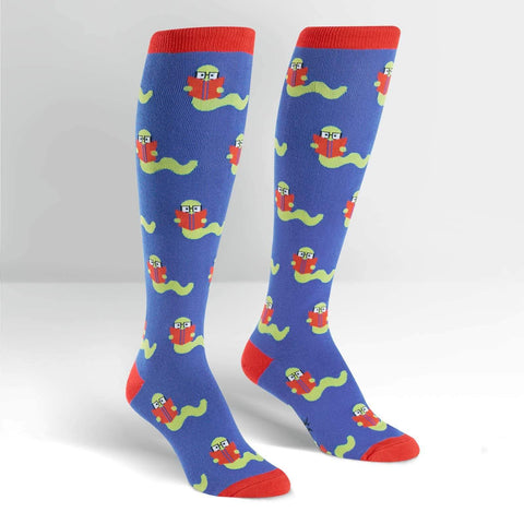 Bookworm Knee High Socks for Women