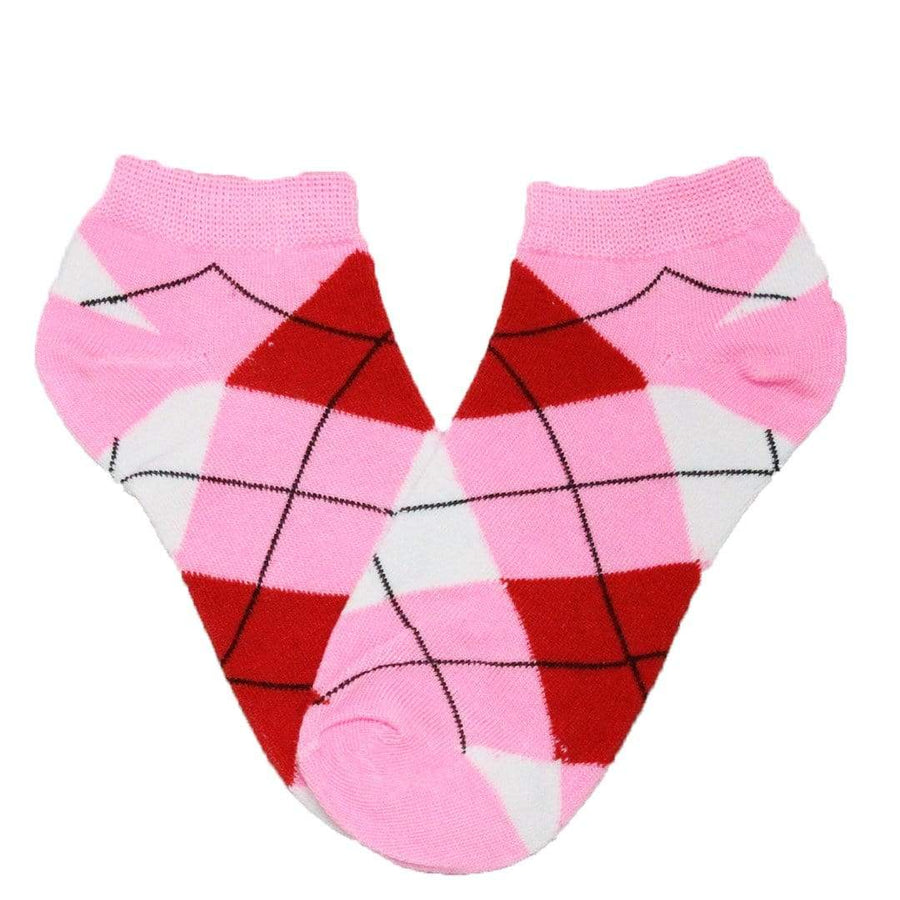 aac7190b3 Brightly Colored Argyle Socks Women s Ankle Sock