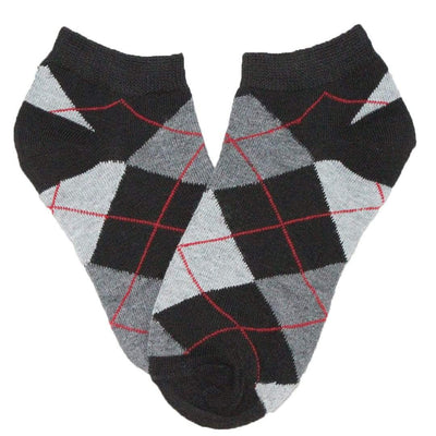 Brightly Colored Argyle Socks Women's Ankle Sock