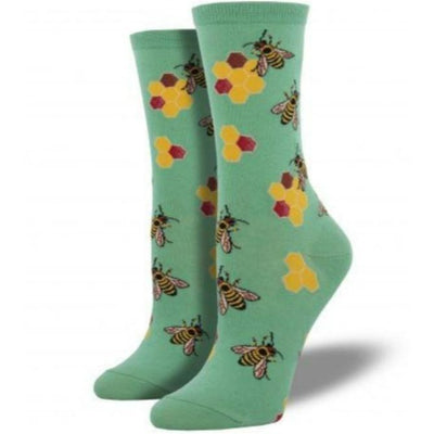 busy-bees-socks-crew-socks-for-women