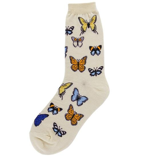 Butterflies Socks Women's Crew Sock