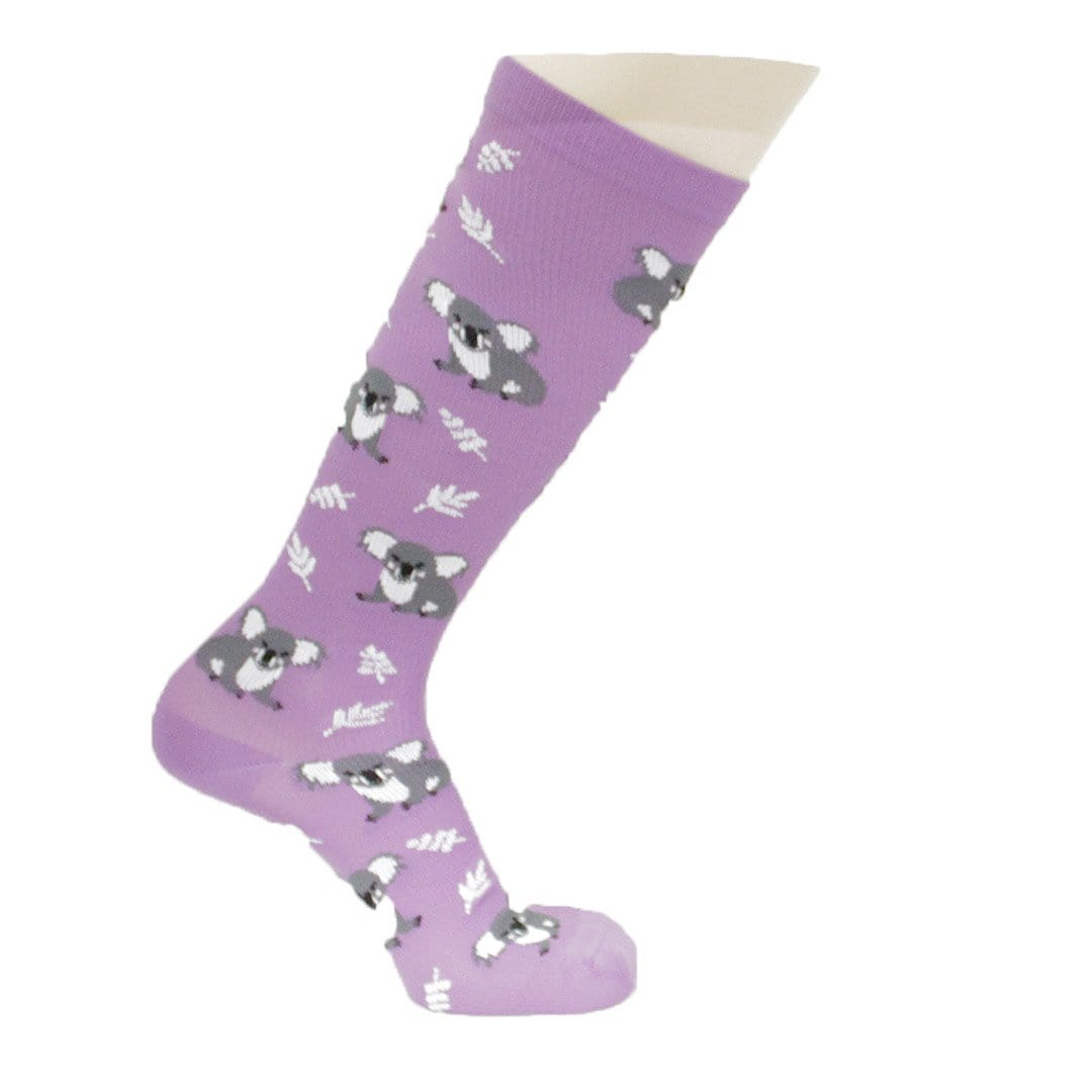 Purple Koala Compression Socks Knee High Sock Purple
