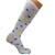White Polka Dot Compression Socks Knee High Sock White