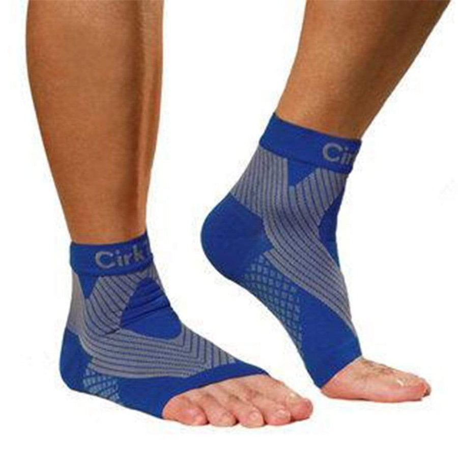 52a1983a38e compression foot sleeve ankle socks royal blue
