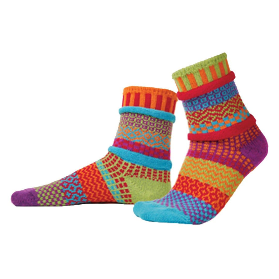 Cosmos Cotton Crew Socks