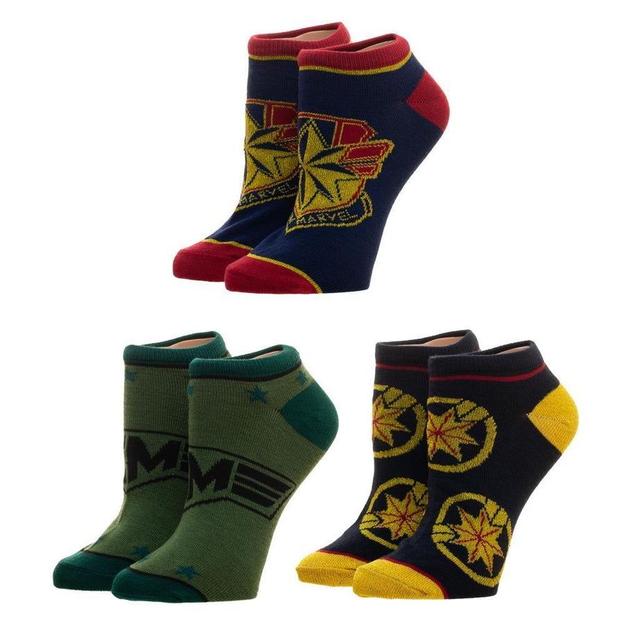 Captain Marvel Socks Women's Ankle Pack