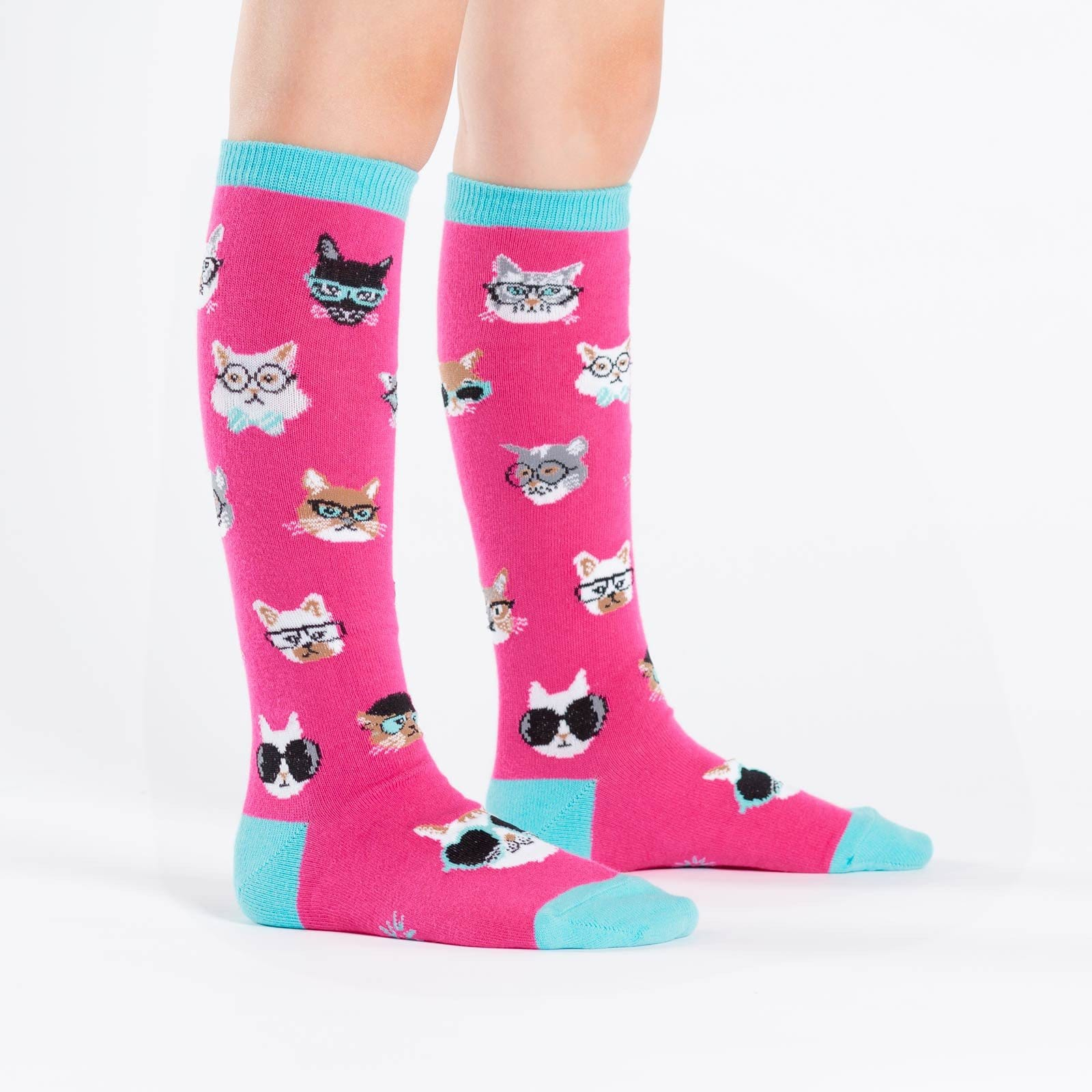 Smarty Cats Socks - Junior Knee High