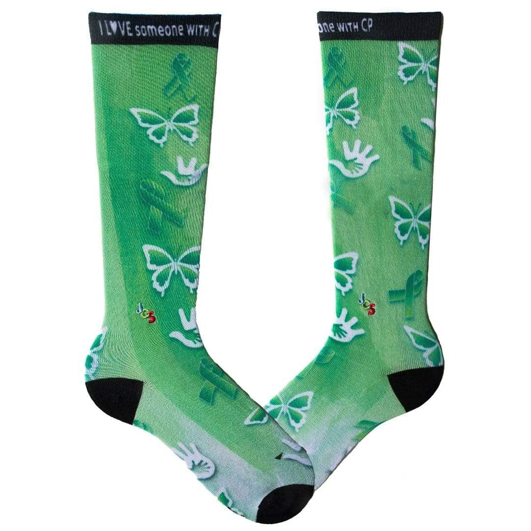 Cerebral Palsy Awareness Watercolor Knee High Sock Green