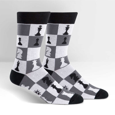 Checkmate Chess Socks - Crew for Men