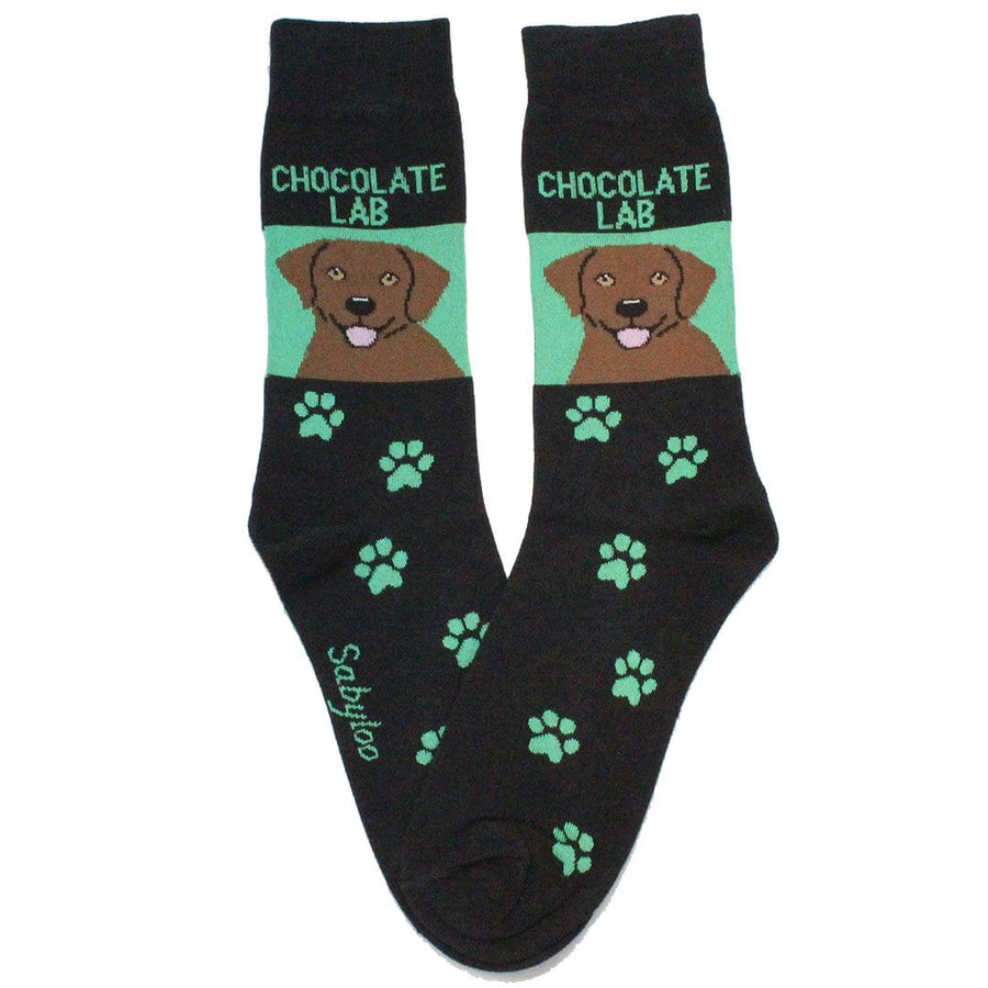 Chocolate Labrador Retriever Dog Crew Socks