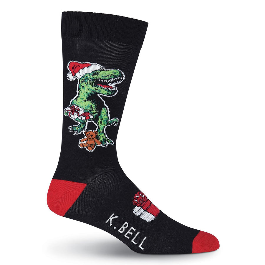 xmas rex socks crew socks for men