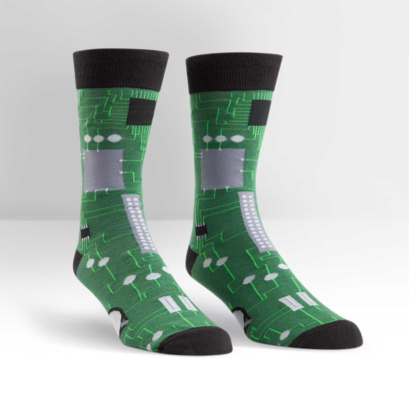 Circuit Board Socks - Men's Crew