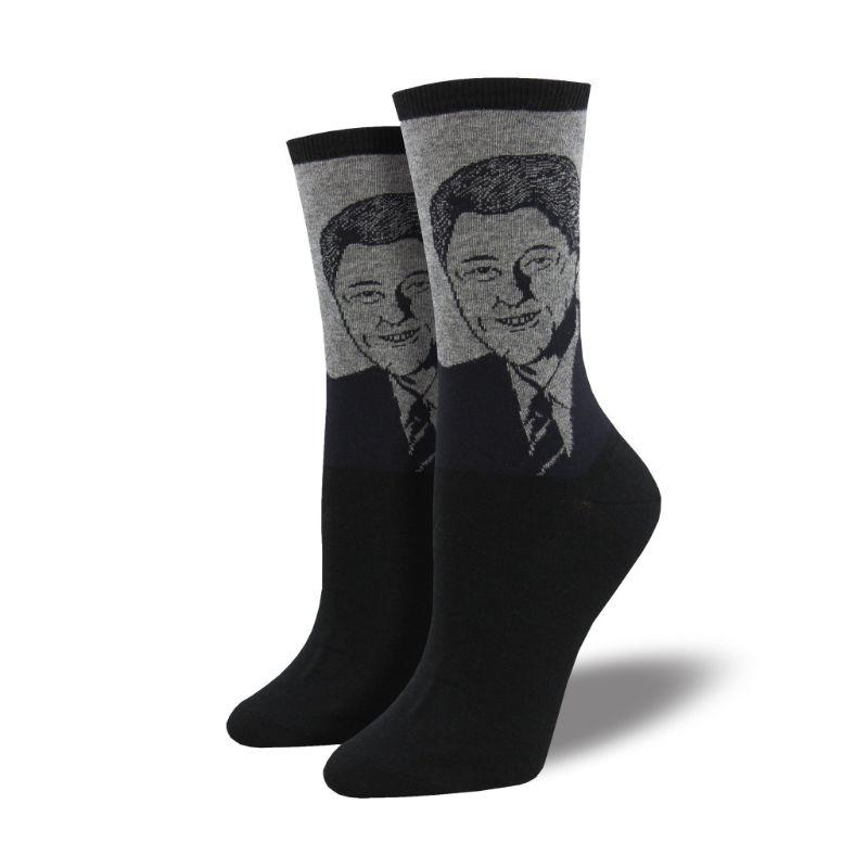 bill-clinton-socks-crew-socks-for-women
