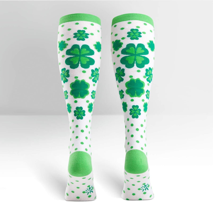 Clover & Shamrock Polka Dot Women's Knee High Socks
