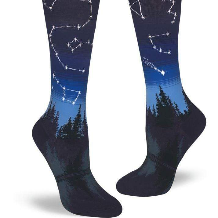 Constellations Socks Women's Knee High Sock blue