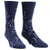 Constellation Men's Crew Sock Blue