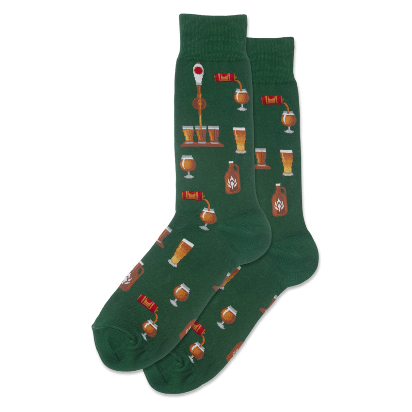 Craft Beer Men's Crew Sock Green