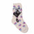 Dot Print Fuzzy Kids Socks Kids / Cream
