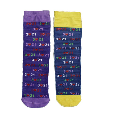 Mismatched Down Syndrome Awareness Socks - Unisex Crew