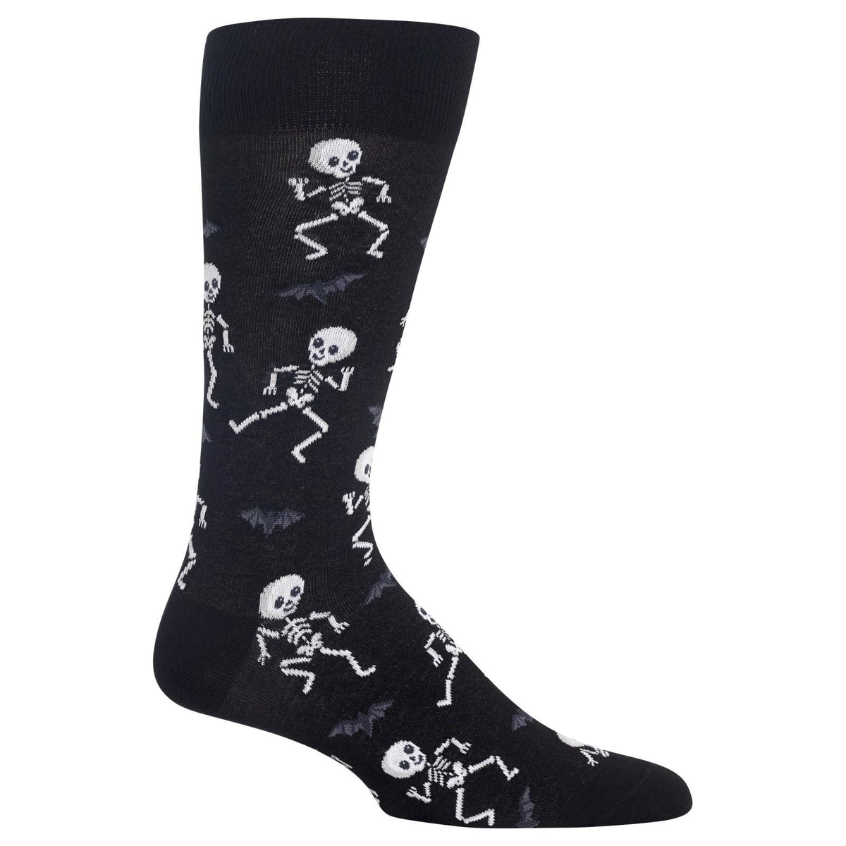 Dancing Skeletons Halloween Socks Men's Crew Sock black