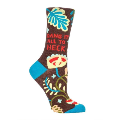 Dang It All To Heck Socks Women's Crew Sock