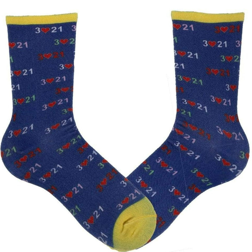 Down Syndrome Awareness Socks Blue Unisex Crew Blue