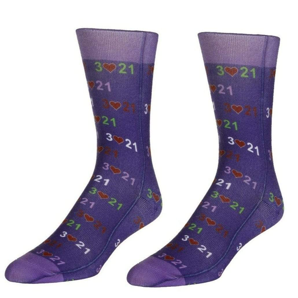 Down Syndrome Awareness Socks Unisex Crew Sock Purple