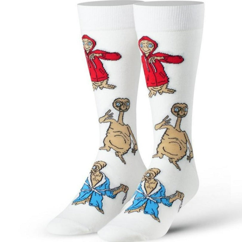 E.T. Disguises Men's Crew Sock White